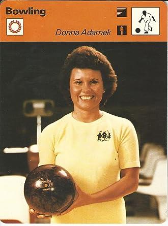 1977-79 Sportscaster Card Donna Adamek #88.07 Bowling