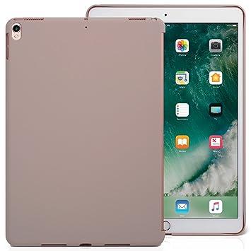 KHOMO Funda iPad Air 3 10.5 (2019) / iPad Pro 10.5 (2017) Carcasa Trasera Ultra Delgada y Ligera Compatible con Smart Cover - Piedra Beige