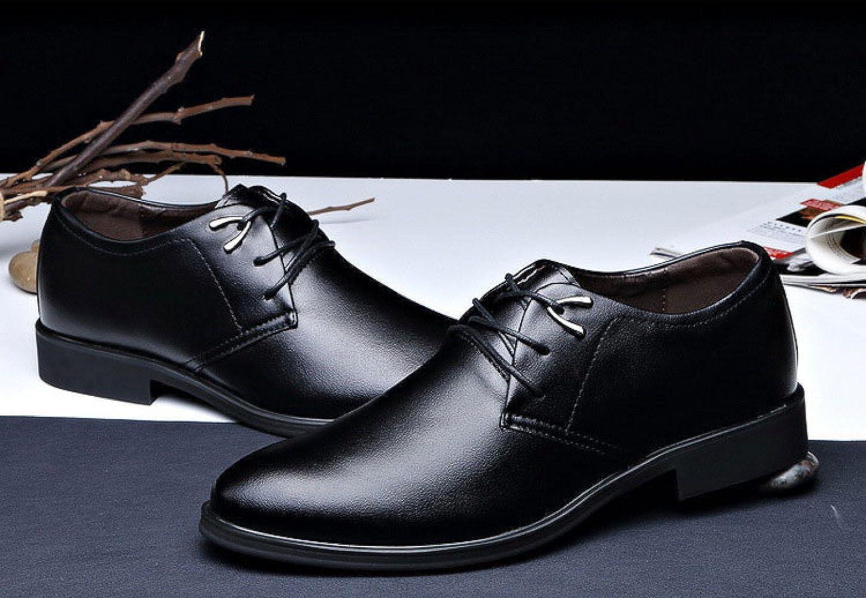 LEDLFIE Casual Herren Kleid Schuhe Business Spring Fashion Casual LEDLFIE Klassischen Wilden Lace-up,schwarz-40 - 293e5b