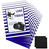500 Pieces Lens Cleaning Paper Tissue and 2 Double Sided Cleaning Cloth-Lens Cleaning Paper for Camera Lenses…