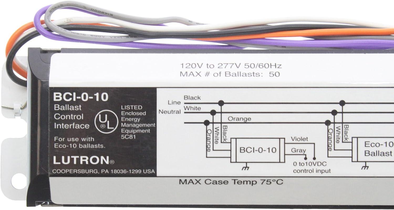120-277V Lutron BCI-0-10 Ballast Control Interface For ECO-10 Series 0-10V
