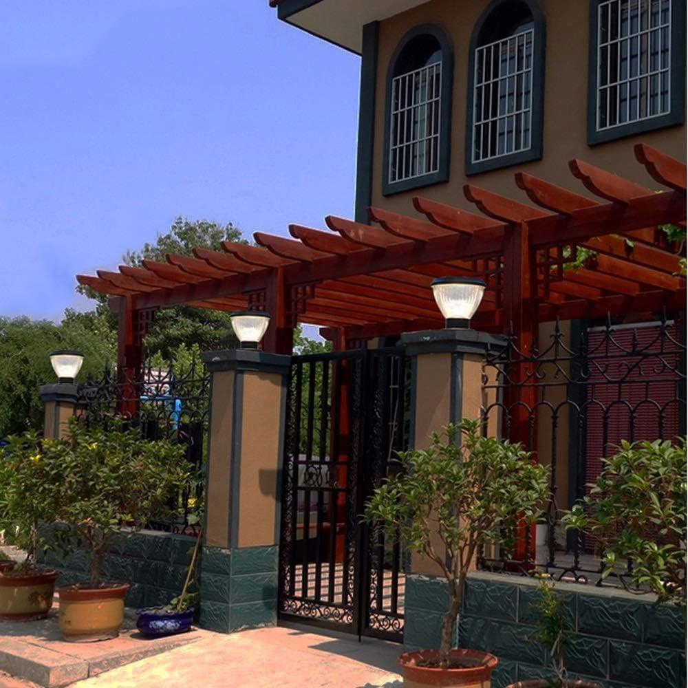 Libuty Sensor de luz Puerta Puerta automática Luz al aire libre Villa Patio poste de la puerta Luz solar Inicio impermeable brillante estupendo patio de luz, al aire libre Pon luces anochecer