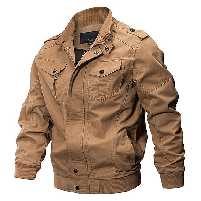 Amazon.com: chamarra Militar Hombres chamarra de algodón ...