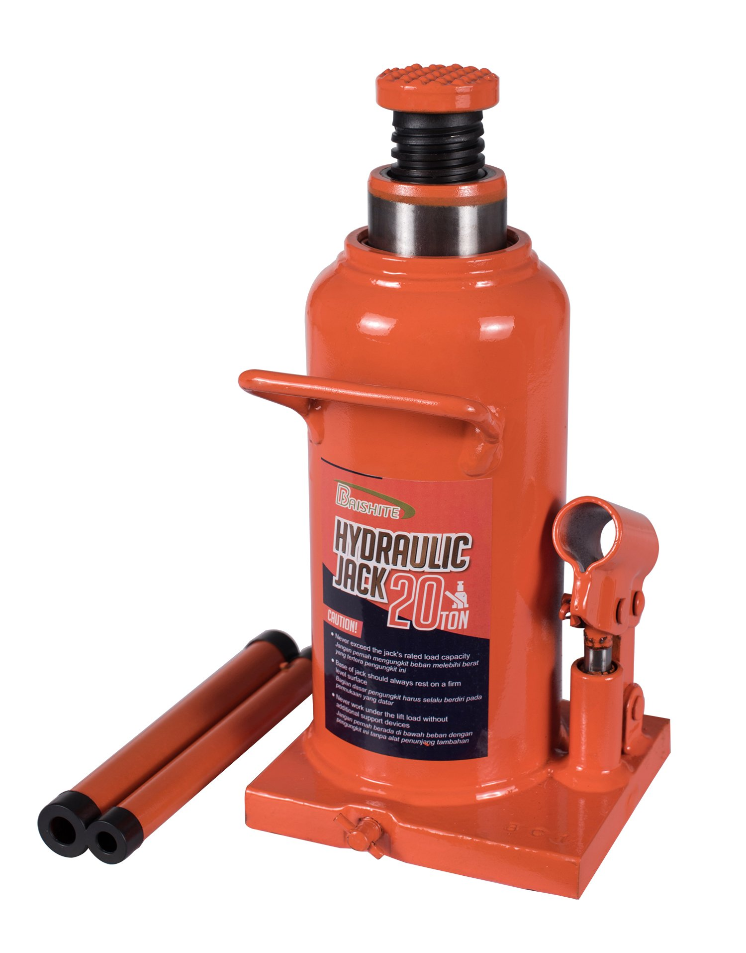 BAISHITE Welding Hydraulic Bottle Jack 16 Ton Capacity Orange by BAISHITE
