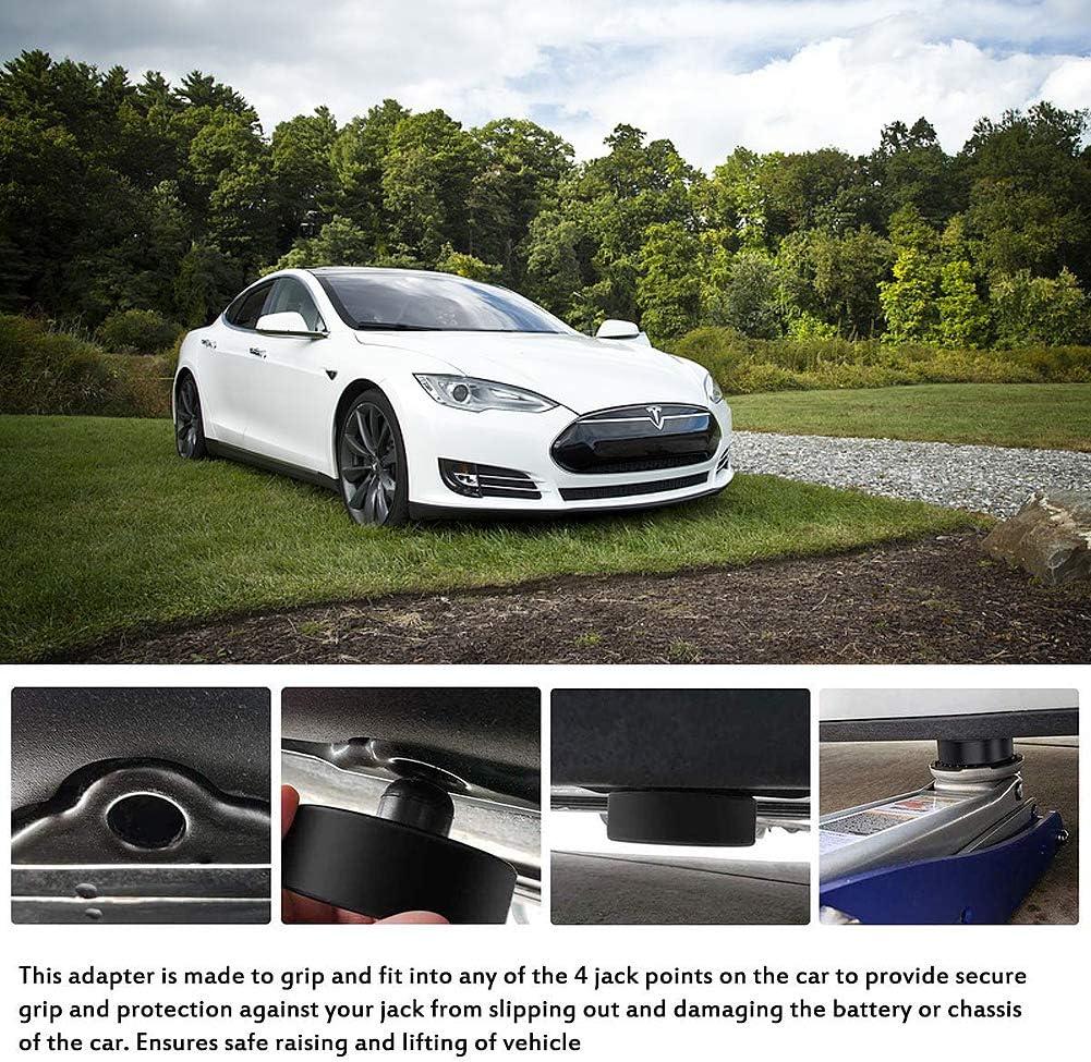 4pcs YIXISI 4pcs Jack Pad Bloc /él/évation du V/éhicule en Toute S/écurit/é Cric Tampon Hydraulique Crics De Levage Prot/ège la Batterie et le Ch/âssis Tesla Model 3 Bloc en Caoutchouc