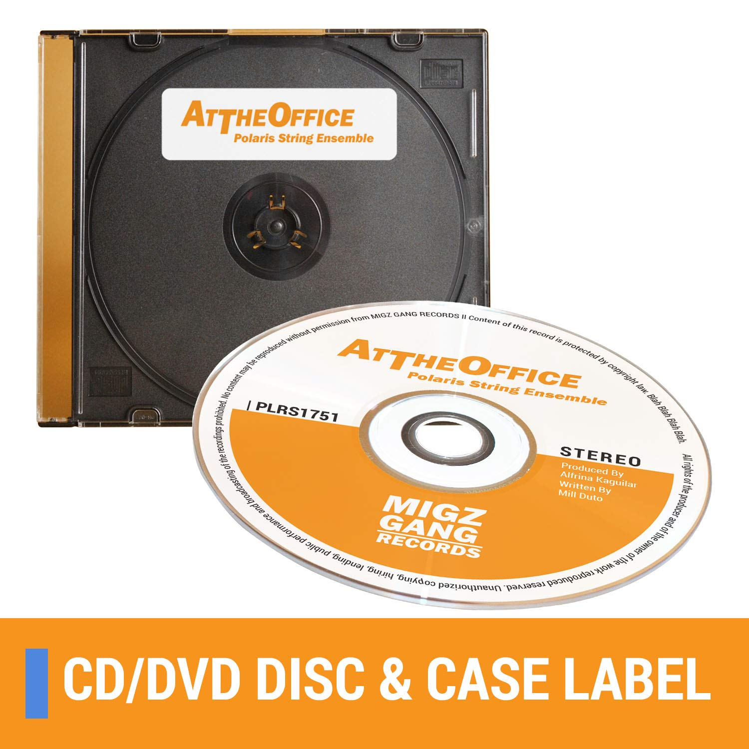 OfficeSmartLabels Neato CLP-192301 3UP Compatible DISC CD DVD Labels with Case Labels for Laser & Inkjet Printers, 3 per Sheet, White, Matte, 450 ...