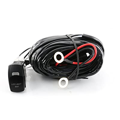 9ft 40A 12V Switch & Relay Wiring Harness Kit LED Fog Work Light Bar 180W-500W: Automotive