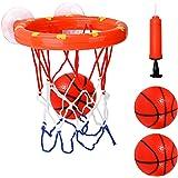 Cyfie Bath Toy Basketball Hoop & Balls Set, Bathtub Office Balls Playset with 3 Hard Balls for Boys Girls Kids Toddlers…