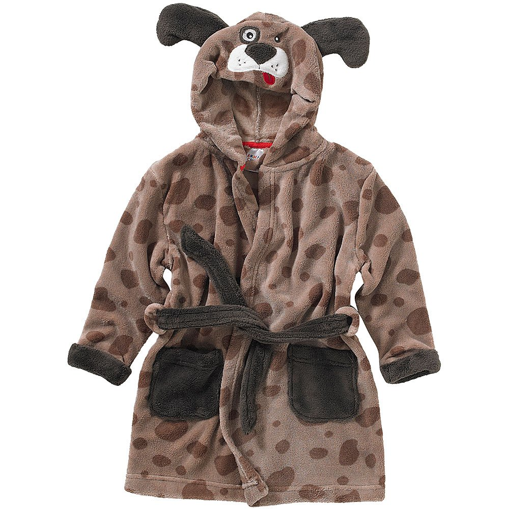 Animal Crazy Childs Boys Girls Puppy Dog Bath Robe Dressing Gown Supersoft Fleece