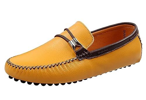 Icegrey Hombre Mocasines Zapatos Clásico De Ante del Mocasín Que Conduce Los Zapatos: Amazon.es: Zapatos y complementos
