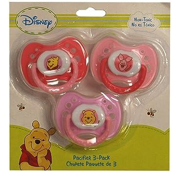 Disney Winnie The Pooh Pacifier 3 Pack (Pink)