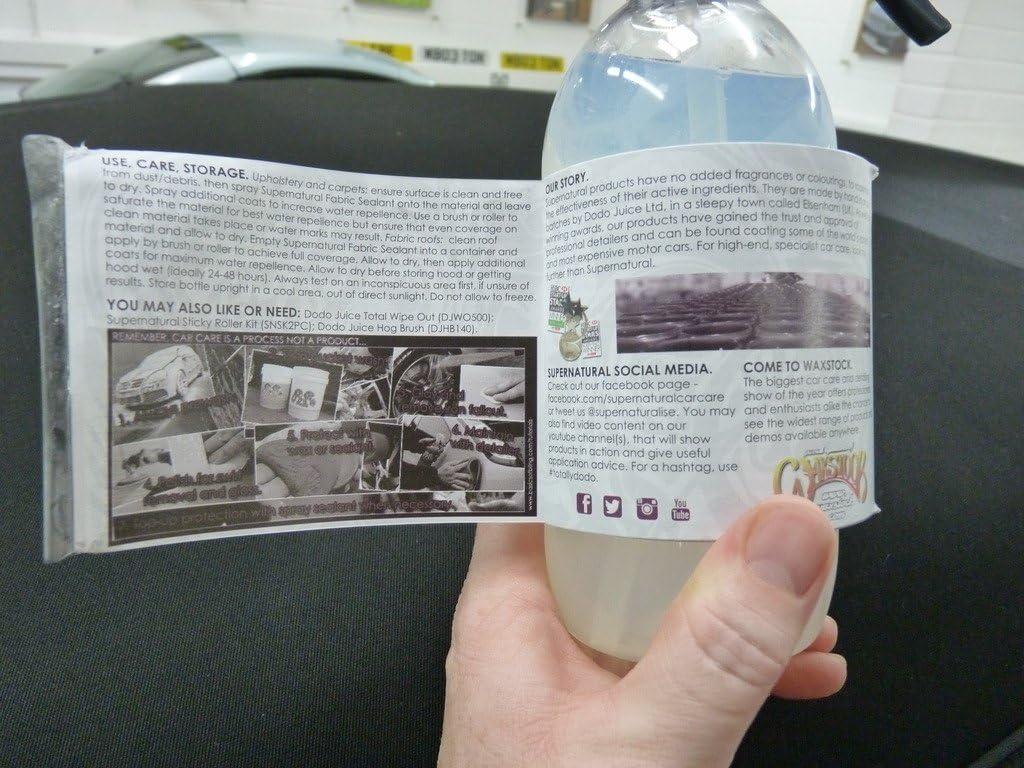 Dodo Juice Supernatural Stoff Kapuze Versiegelungsmittel Waterproofer Socke Polster Auto