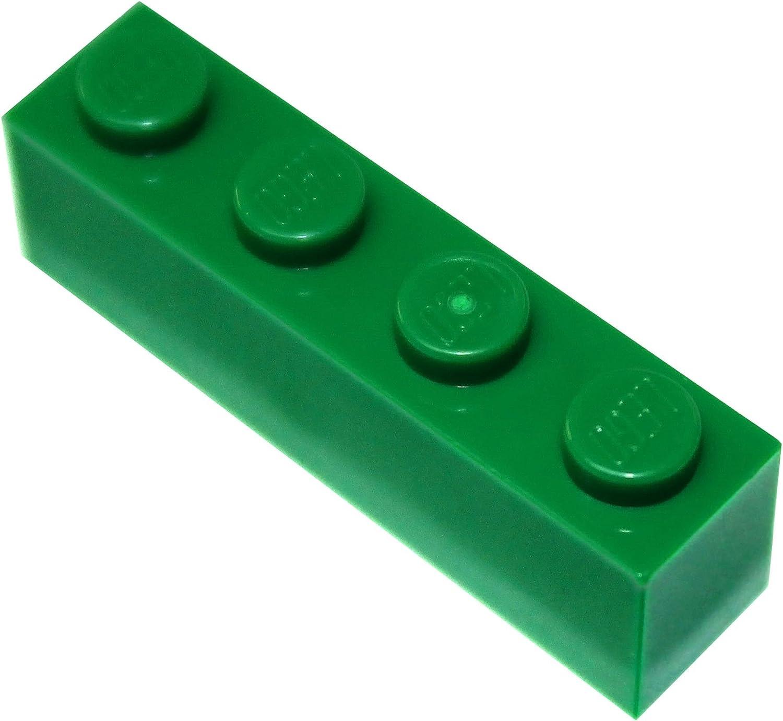 Lego 4 Dark Green 1x4 brick block NEW