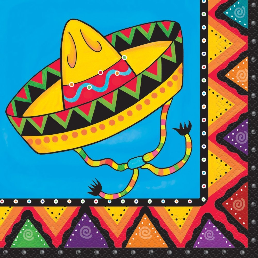 3 Set of 20 Unique Industries Fiesta Party Napkins bundled by Maven Gifts