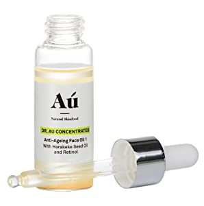 Dr. Au Anti-Aging Face Oil Retinol Serum by Au Natural Skinfood - Promotes Youthful, Glowing Skin | Collagen Boosting Wrinkle Repair | No Oily Residue - Just Soft to the Touch Skin | Day & Night Moisturizing treatment for Men and Women