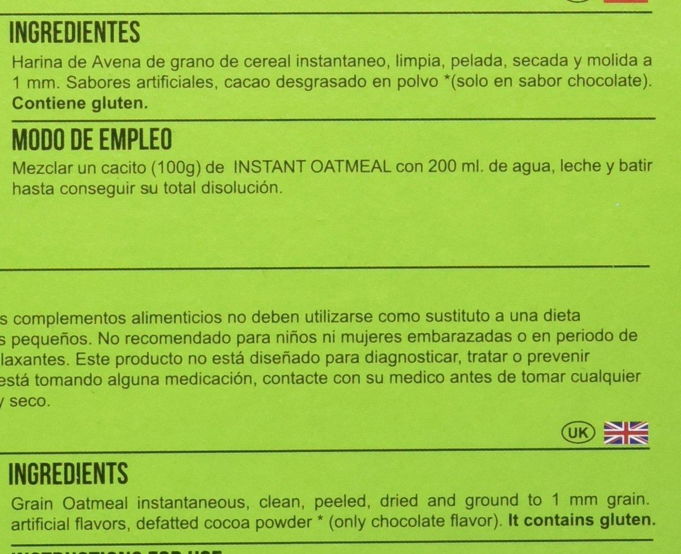 Big Man Nutrition Instant Oatmeal Suplemento de Carbohidratos Cinnamon Vanilla - 3000 gr: Amazon.es: Salud y cuidado personal