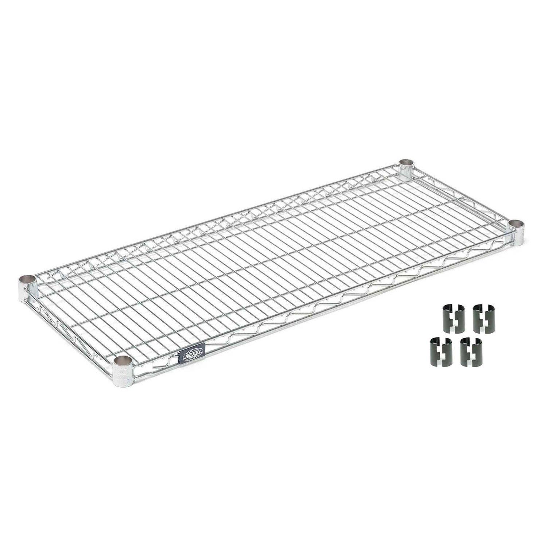 Nexel S1836S Stainless Steel Wire Shelf 36''W x 18''D with Clips