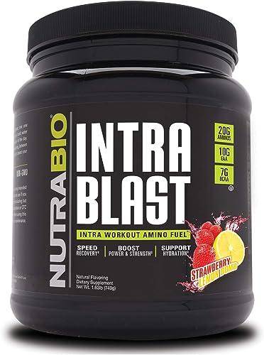 NutraBio Intra Blast – 30 Servings Strawberry Lemon Bomb