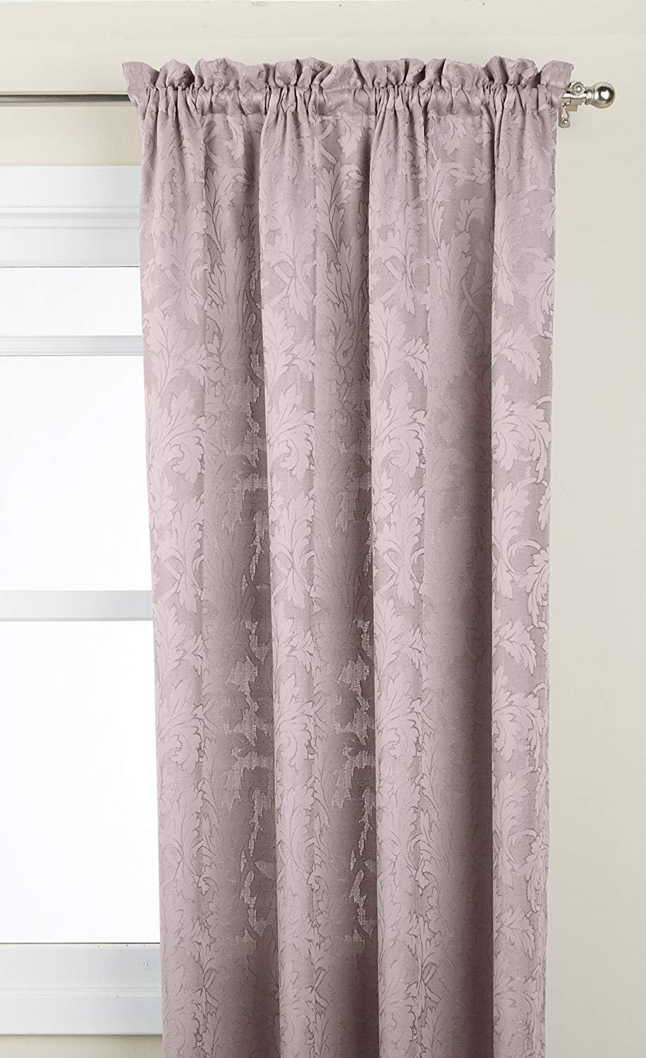 Metal Window Curtain Panel LORRAINE HOME FASHIONS Flora 52 X 63