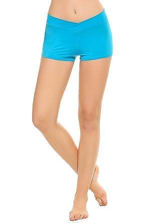 Ekouaer Femme Sport Short Bleu M de rWqRrnAc7