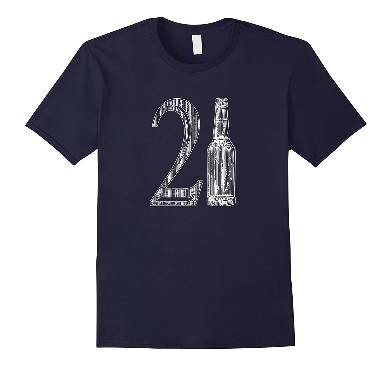 21st Birthday, 21 Years Old, Beer Drinking - T-shirt-TH