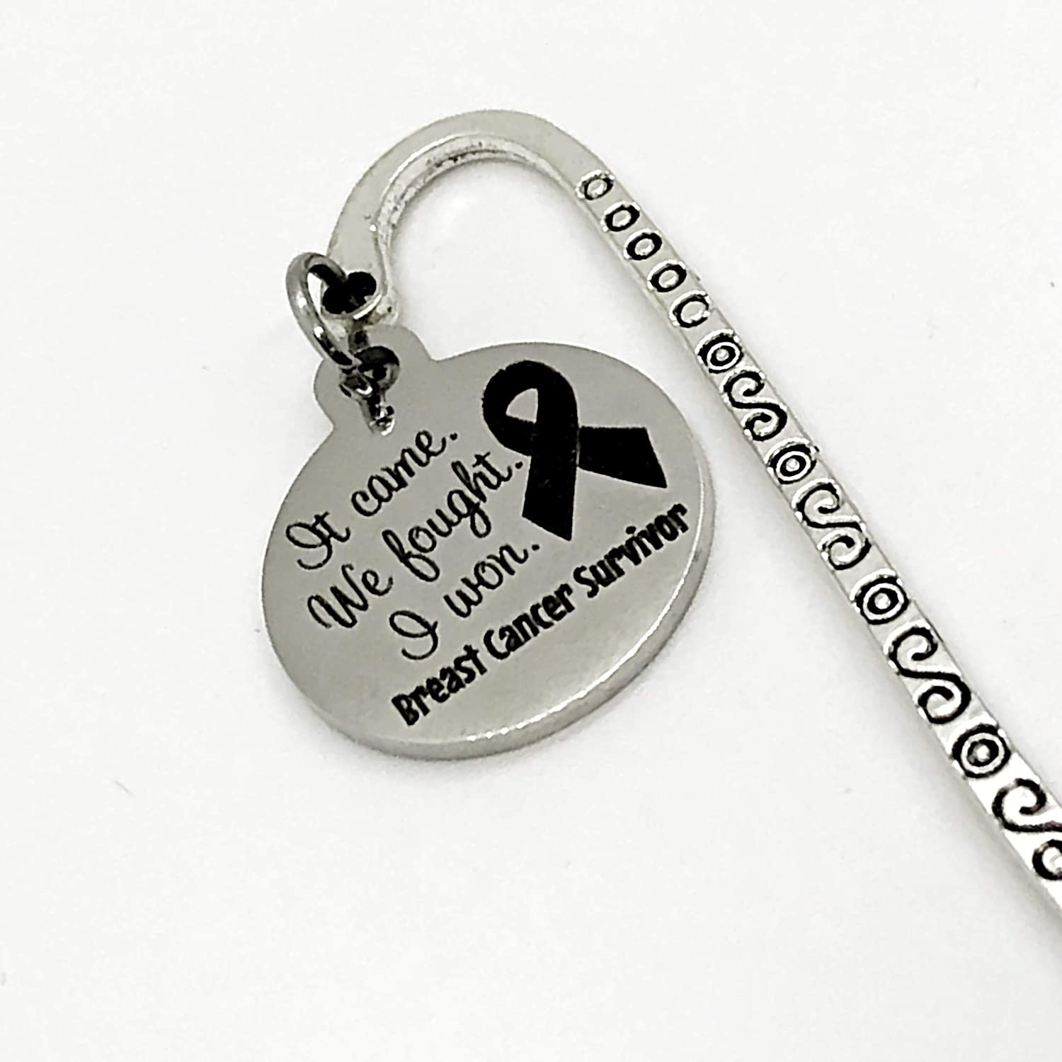 Paperback Bookmark Cancer Remission Gift It Came Charm Bookmark Gift I Won Breast Cancer Survivor Bookmark Bookmark Gift We Fought