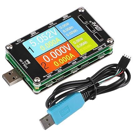 """MakerHawk USB Meter Tester USB Multimeter Voltage Tester Digital Current Meter Resistor Detector 2.6"""" IPS"""