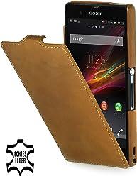 StilGut, Custodia in pelle per Sony Xperia Z marrone marrón - Old Style Camel Brown