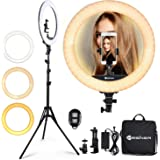 Ring Light 18 Inch LED Ringlight Kit with 73 inch Tripod Stand with Phone Holder Adjustable 3200-6000k Color Temperature Circ