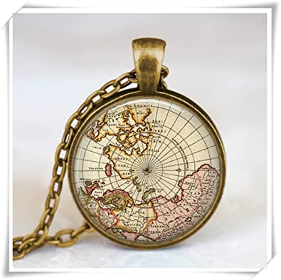 Amazon vintage world map jewelry earth globe pendant world vintage world map jewelry earth globe pendant world travel adventurer world map globe gumiabroncs Image collections