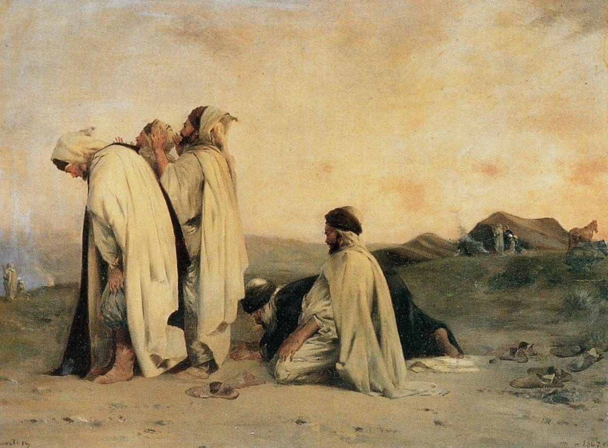 Canvas Print Wall Art - Arabes En Prière (Arabs Praying) - by Eugene Fromentin - 20
