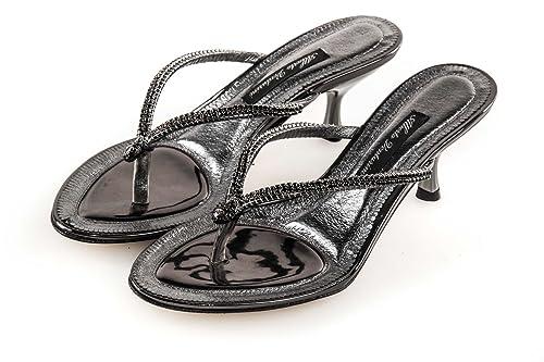 eeb91714bf933c Scarpe donna ALBERTO VENTURINI sandalo infradito con strass grigio N37  X3166: Amazon.it: Scarpe e borse