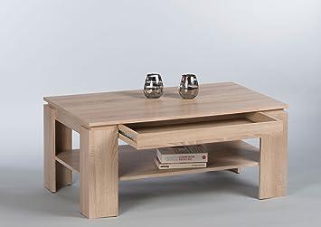 lifestyle4living Couchtisch Holz | Sonoma Eiche-Dekor | Schublade ...