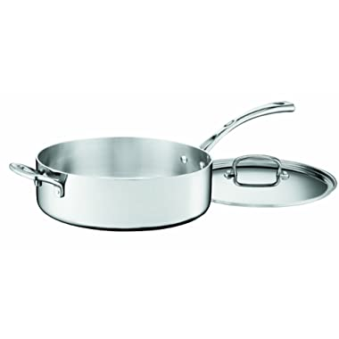 Cuisinart FCT33-28H French Classic Tri-Ply Stainless 5-1/2-Quart Saute Pan with Helper Handle and Cover
