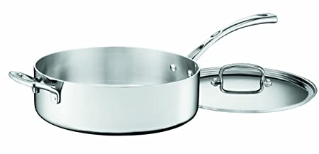 Cuisinart Fct33 28 H French Classic Tri Ply Stainless 5 1/2 Quart Saute Pan With Helper Handle And Cover by Cuisinart
