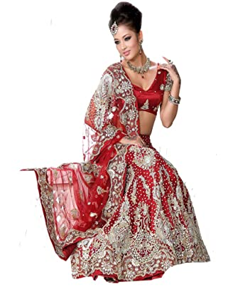 Csebazaar Damen Schöne Indische Lehenga Choli Designer-Party tragen ...