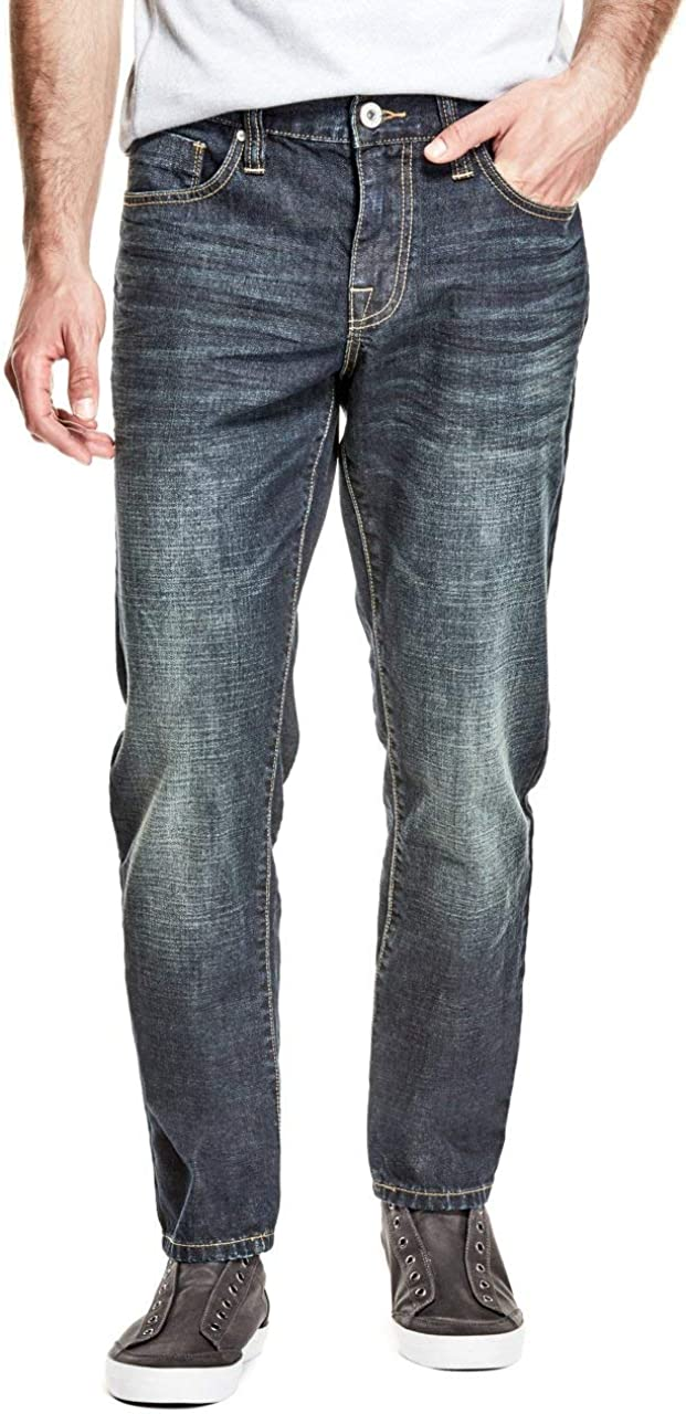 GUESS Factory Men/'s Halsted Slim Tapered Jeans