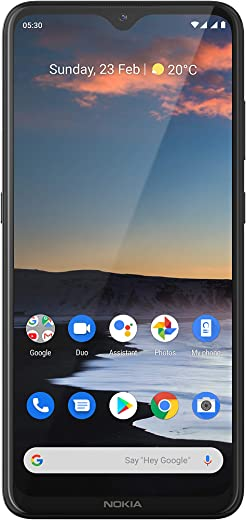 "Nokia 5.3 Fully Unlocked Smartphone with 6.55"" HD+ Screen, AI-Powered Quad Camera and Android 10, Charcoal, 2020 (AT&T/T-Mobile/Cricket/Tracfone/Simple Mobile)"