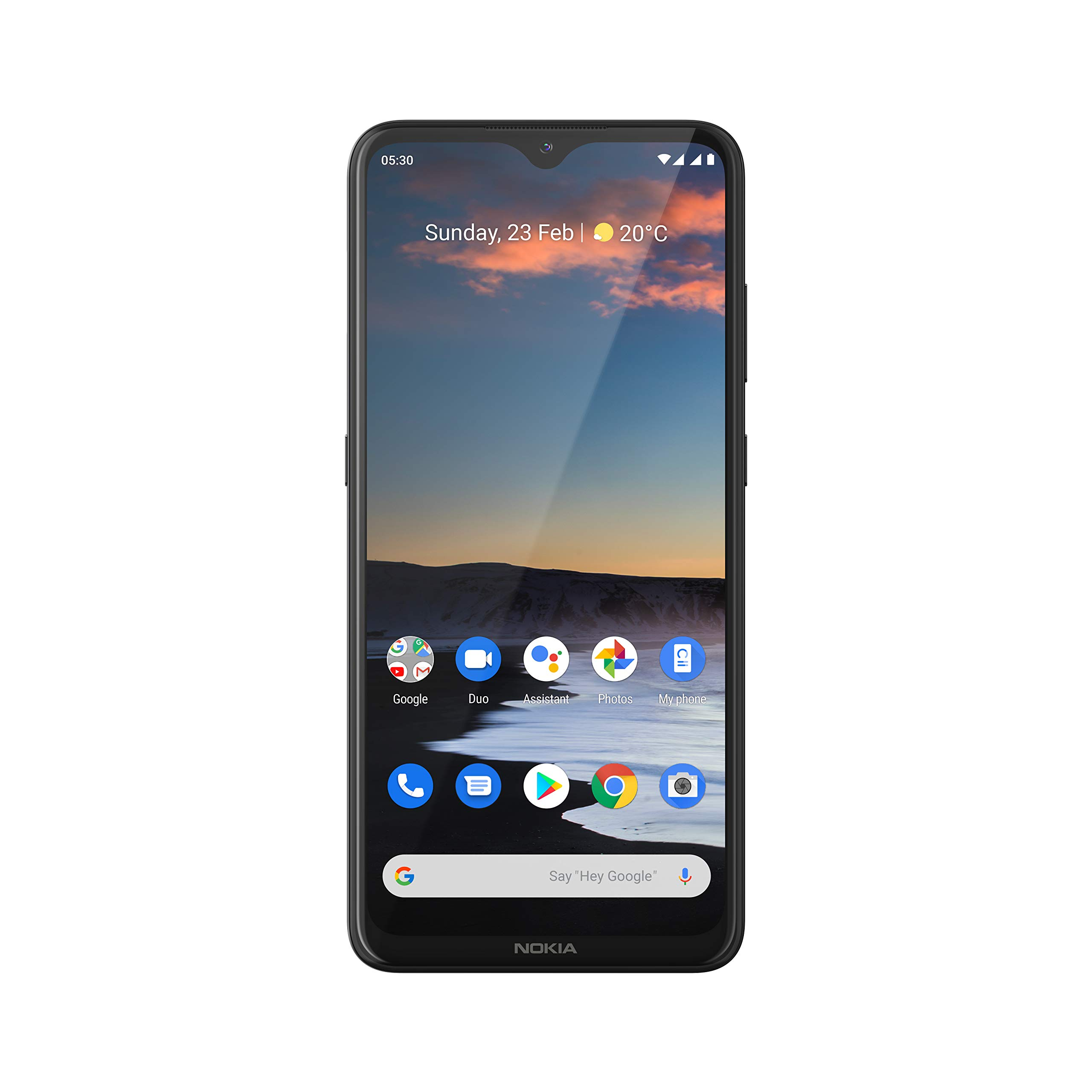 """Nokia 5.3 Fully Unlocked Smartphone with 6.55"""" HD+ Screen, AI-Powered Quad Camera and Android 10, Charcoal, 2020 (AT&T/T-Mobile/Cricket/Tracfone/Simple Mobile)"""