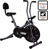Fitkit Unisex Adult FK500 Steel Exercise Airbike - Black/Grey, Free Size
