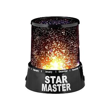 takestop® Lámpara Proyector Estrellas LED Star Master de Mesa ...