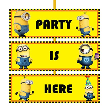 party propz minion birthday party door board for kids amazon in