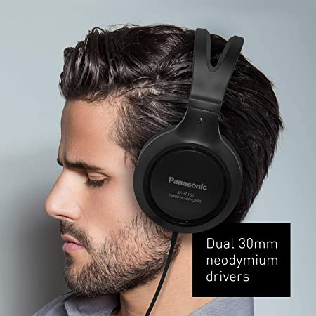 d9988ecf1206ea Amazon.com: Panasonic Headphones RP-HT161-K Full-Sized Over-the-Ear  Lightweight Long-Corded (Black) (Renewed): Home Audio & Theater