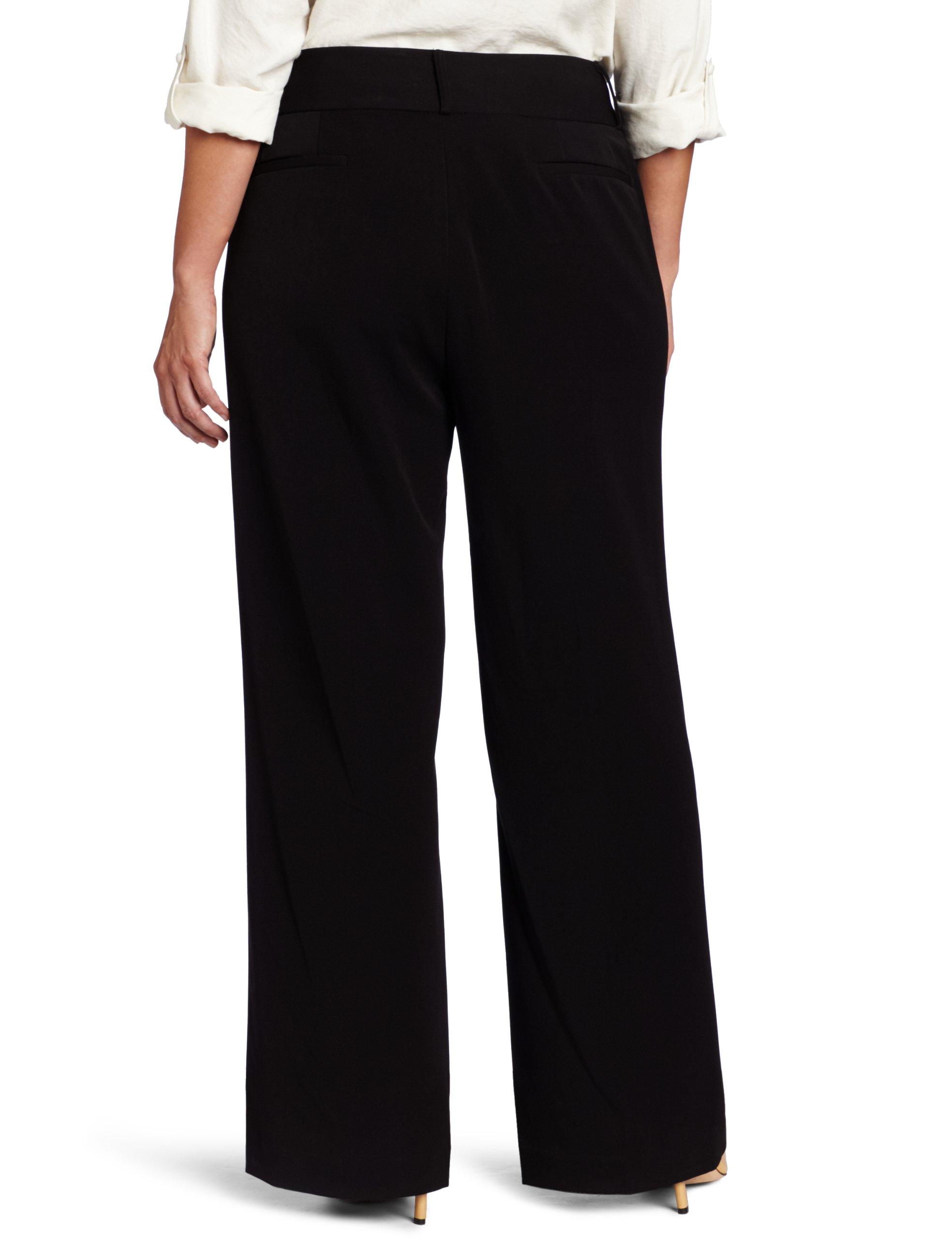 Rafaella Women's Plus-Size Curvy-Fit Gabardine Bootcut Trouser, Black, 20W by Rafaella (Image #2)