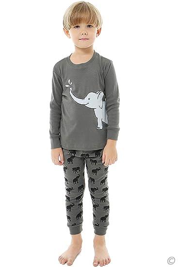 57cdc8c71c Amazon.com  AMGLISE Little Boys Girls Pajamas Pirate Ship Pjs Long Sleeve  Kids Toddler Sleepwear  Clothing
