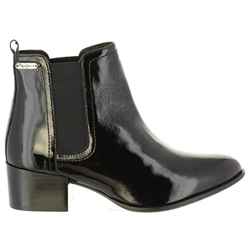 Botines de Mujer PEPE JEANS PLS50311 Waterloo 999 Black: Amazon.es: Zapatos y complementos