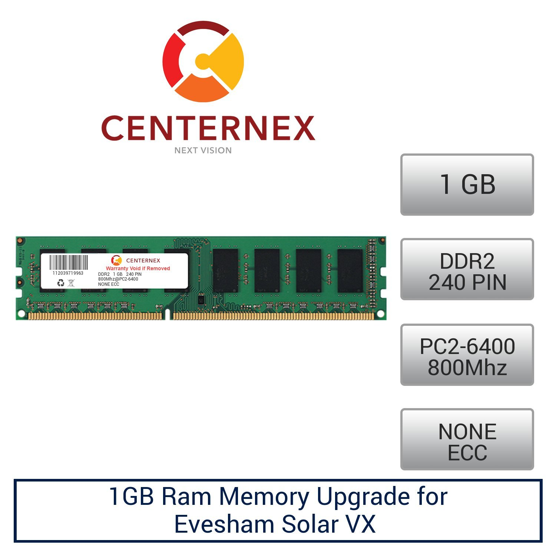 1GB RAM Memory for Evesham Solar VX (DDR26400 NonECC) Desktop Memory Upgrade by US Seller