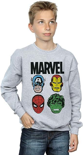 Marvel niños Comics Main Heads Camisa De Entrenamiento 9-11 Years Gris Sport: Amazon.es: Ropa y accesorios