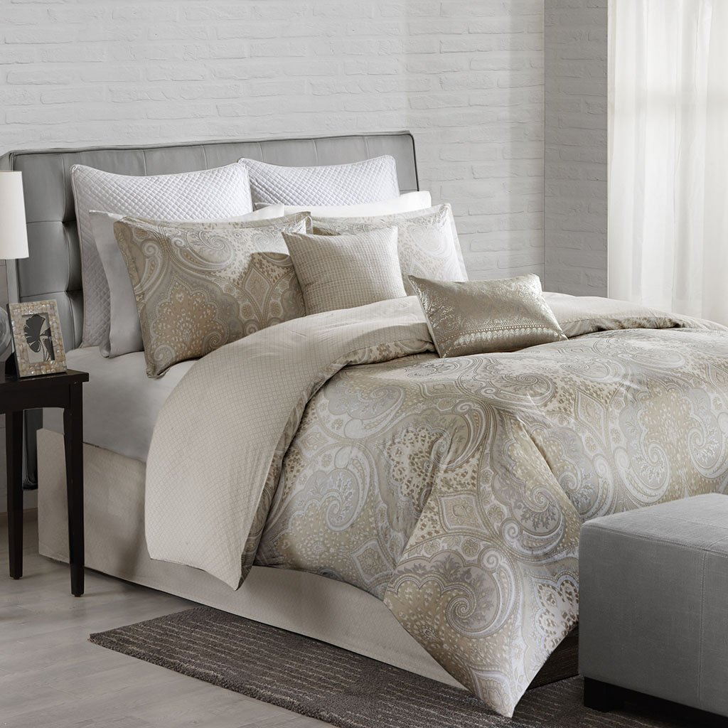 gabriella comforter product duvet free today vcny bedding overstock home metallic set bath cover plush piece shipping