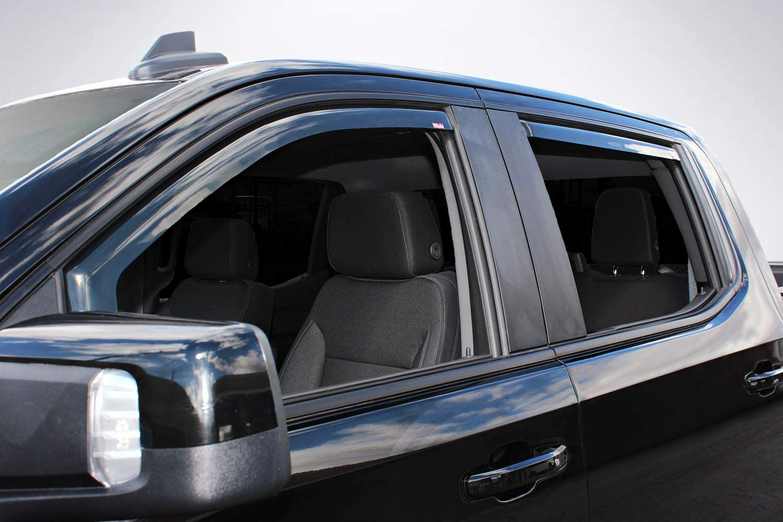In-Channel Wind deflectors For 2019 Chevy Silverado 1500 Crew Cab